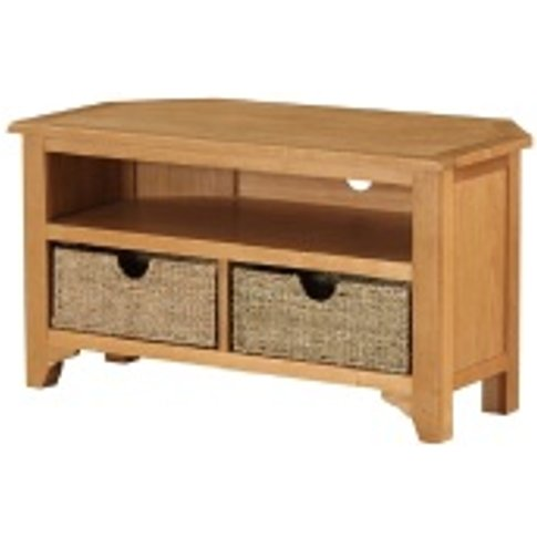 Kansas Small Corner Tv Unit With Baskets