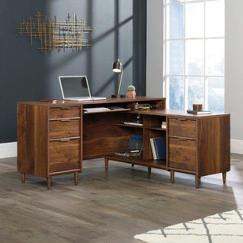 Teknik Clifton Place L-Shaped Desk - Grand Walnut