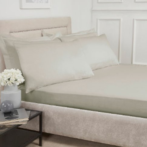 Polycotton Fitted Sheet - Natural / King