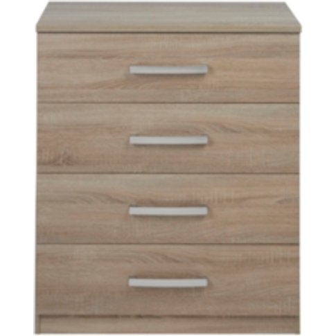 Riviera Four Drawer Chest - Light Oak