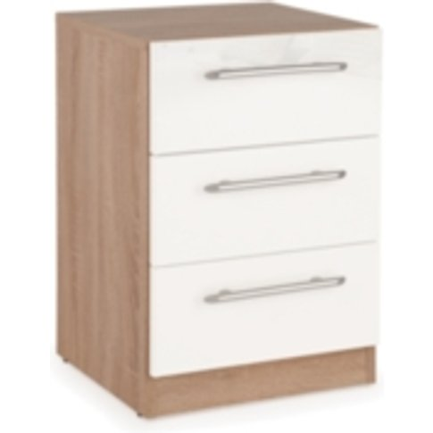 Ashburton Bedside Table - Oak / Gloss White