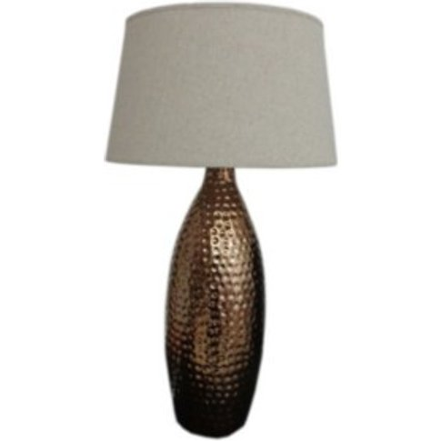 Large Dimple Table Lamp - Brass