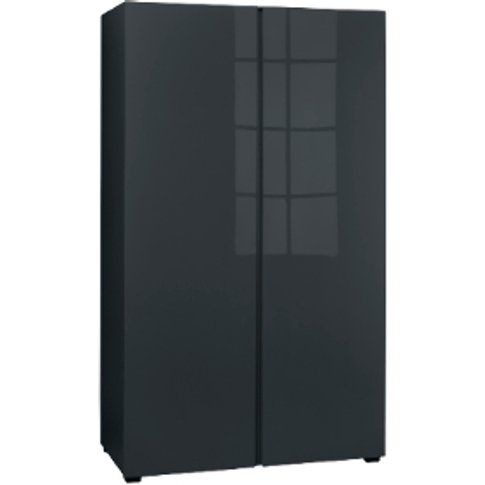 Puro Two Door Wardrobe - Charcoal