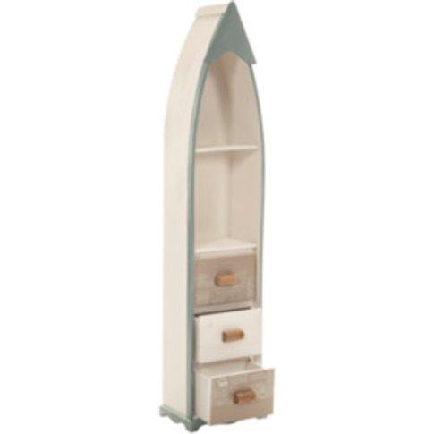 Coastal Boat Cabinet - Cream