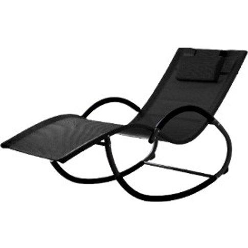 Florida Garden Rocking Chair - Black