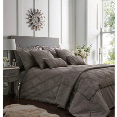 Orlando Duvet Cover And Pillowcase Set - Charcoal Gr...