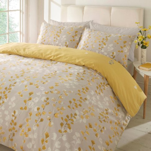 Honour Yellow Duvet Cover And Pillowcase Set - King