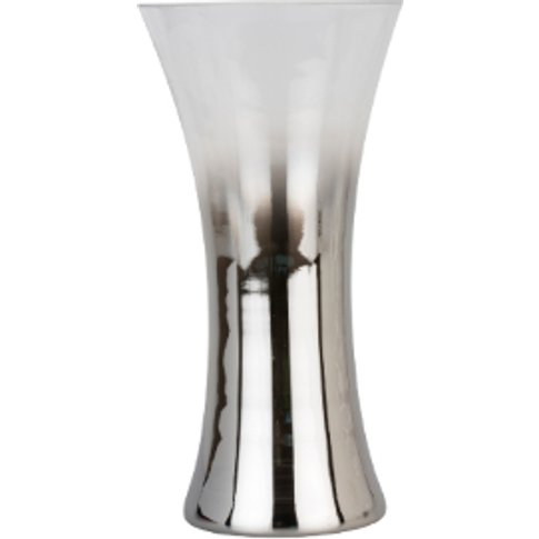 Smoked Open Vase - Charcoal