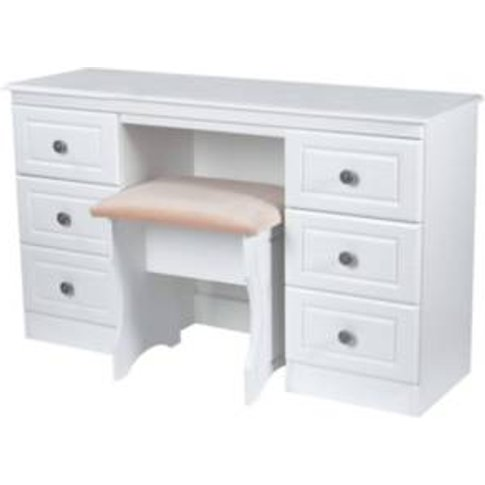Pembury Kneehole  Dressing Table - White