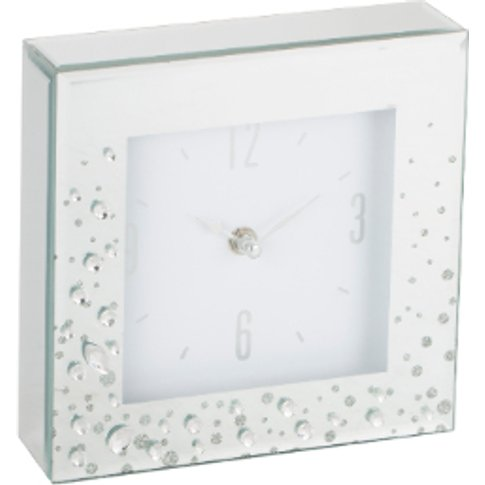 Large Jewelled Clock - Silver