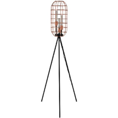 3 Light Industrial Tripod Floor Lamp