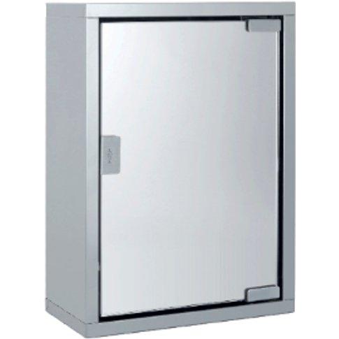 Stainless Steel Bathroom Mirror Cabinet - Silver