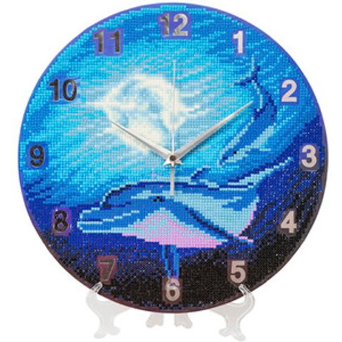 Watery Moon Crystal Art Clock