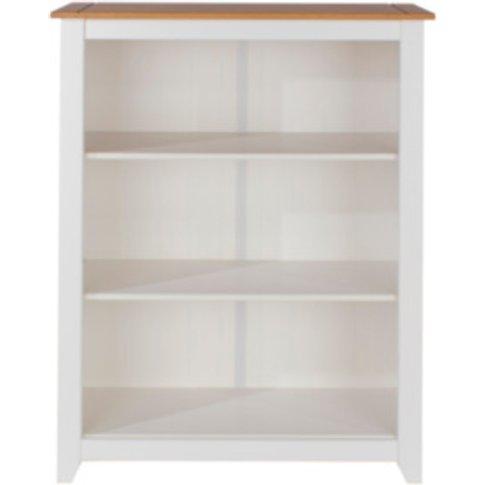 Capri Low Bookcase - White