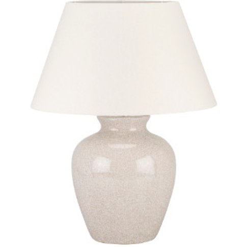Ivory Crackle Ginger Jar Table Lamp - Ivory