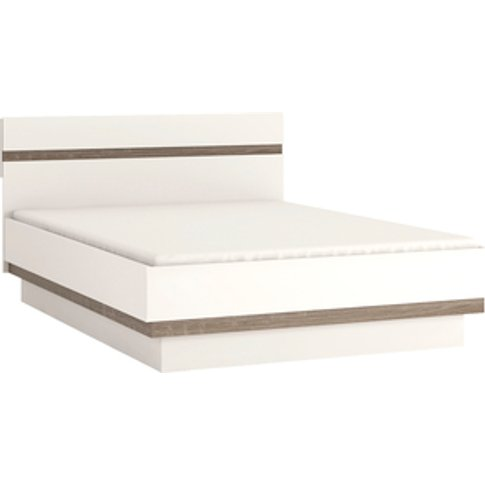 Jonas & James Leece Bed Frame - White With Oak Trim ...