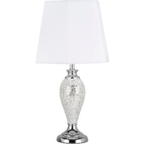 Silver Mosaic Table Lamp - Silver