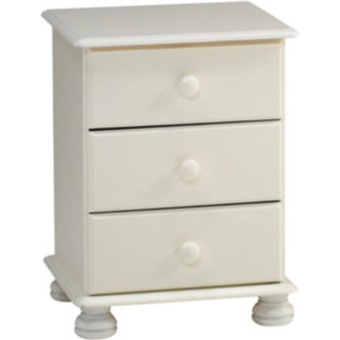 Richmond Three Drawer Bedside Table - White