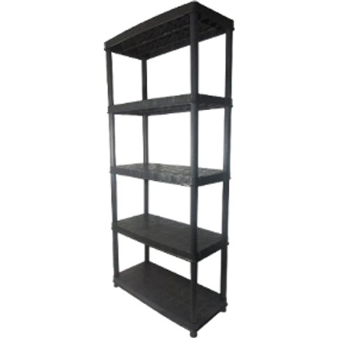 Tiered Plastic Shelving Unit - 5