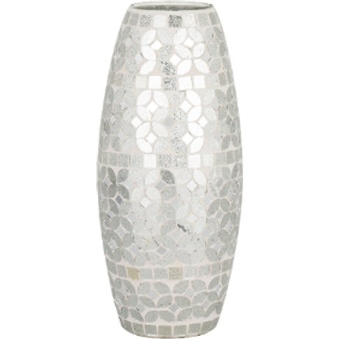 Silver Mosaic Vase - Silver