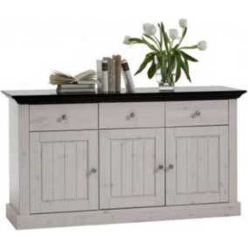 Monaco Three Door Three Drawer Sideboard - White