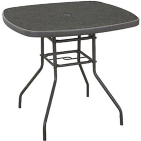 Capri Square Garden Table - Grey