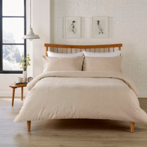 Waffle Stripe 200 Thread Count Duvet Cover And Pillo...
