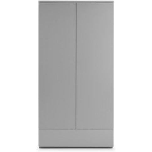 Lisbon 2 Door 1 Drawer Wardrobe - Grey