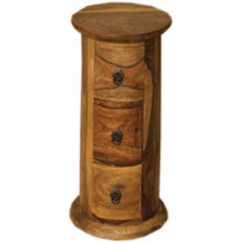 Jali Round Chest Of Drawers