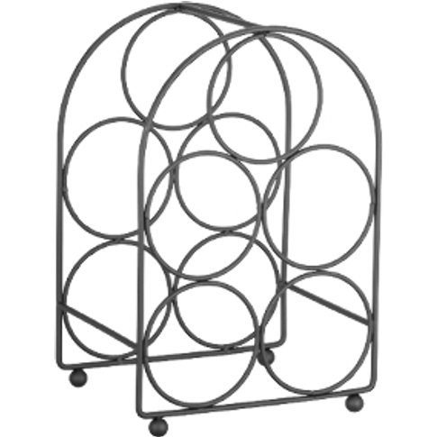 Brooklyn 5 Bottle Wine Rack - Matt Black