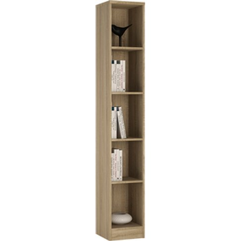 Designa Tall Narrow Bookcase - Sonama Oak