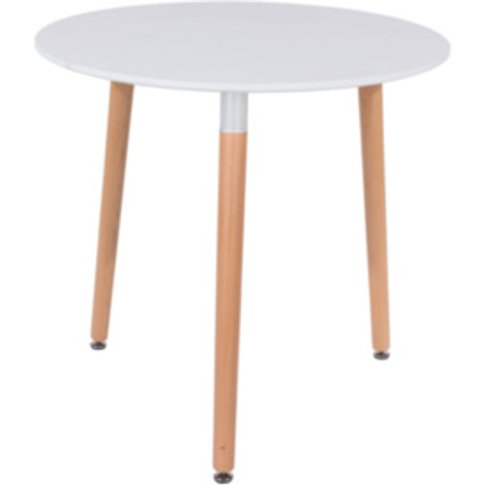 Aspen Round Dining Table  - White
