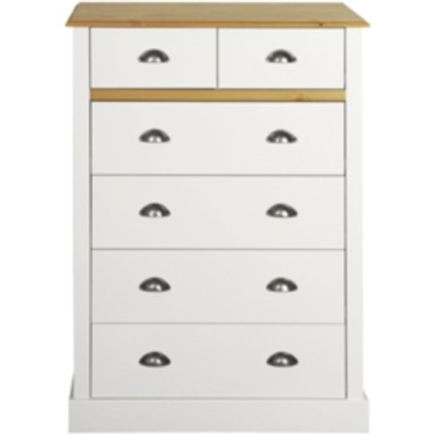 Sandringham Two Plus Four Drawer Chest - White