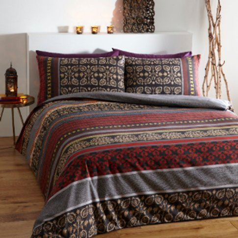 Fusion Red Duvet Cover and Pillowcase Set - King