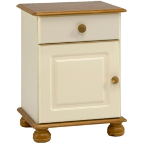 Richmond Bedside Table - Cream & Pine