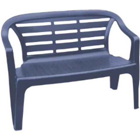 Pastel Blue Flores Garden Bench