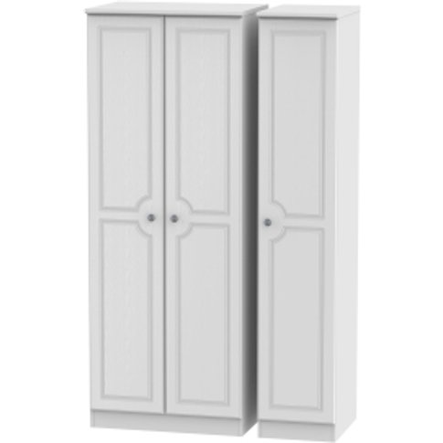 Pembury Triple Plain Wardrobe - White / 197cm