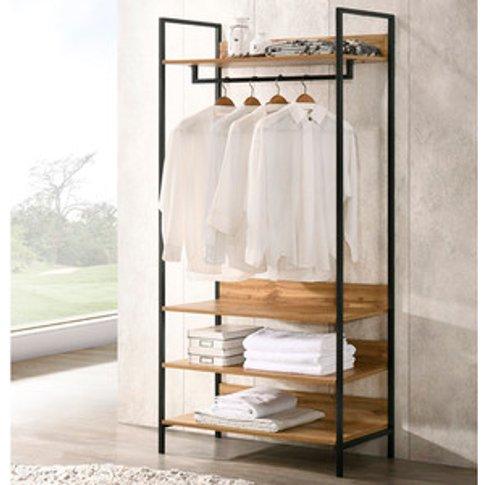 Zahra Open Wardrobe With Four Shelves - Wotan Oak / ...