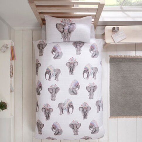 Watercolour Elephants Duvet Cover And Pillow Case Set