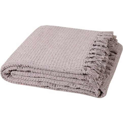 100% Honeycomb Beige Large Sofa Throw - Beige