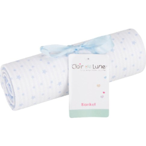 Clair De Lune Stars And Stripes Cotton Blanket - Blue