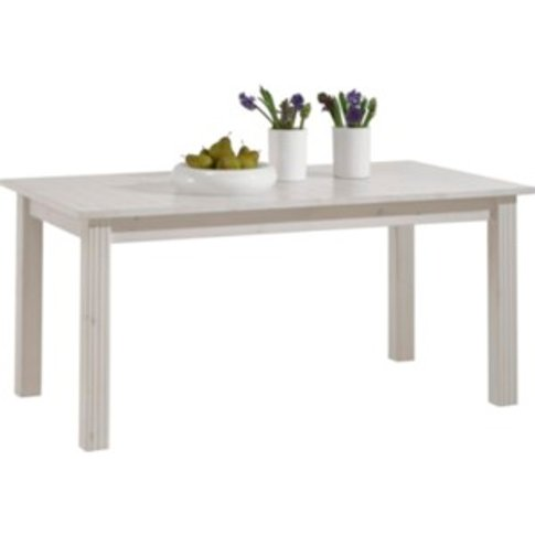 Monaco Extending Dining Table - White-Washed
