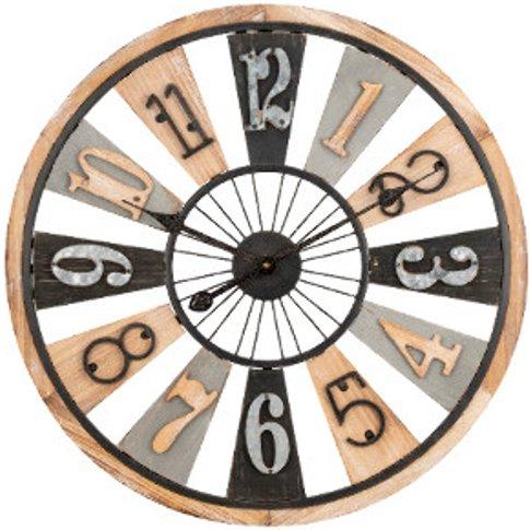 Rustic Wooden Numerical Clock