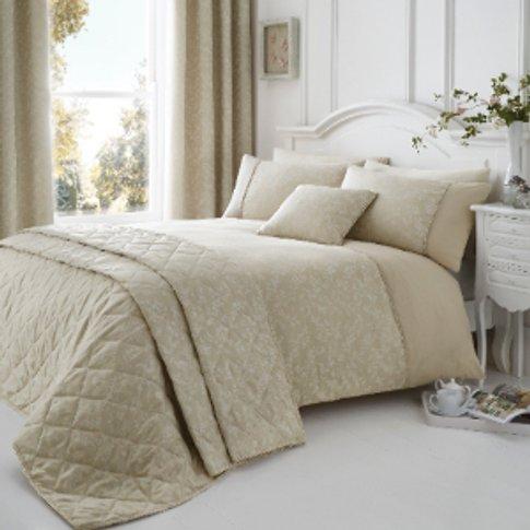 Ebony Natural Jacquard Duvet Cover and Pillowcase Se...