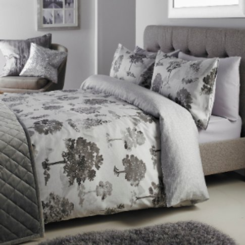 Oriental Trees Charcoal Printed Duvet Cover & Pillow...