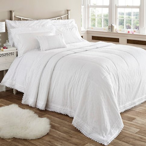 Balmoral Duvet Cover And Pillowcase Set - White / Su...