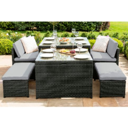 Maze Lyon Sofa Dining Set - Grey