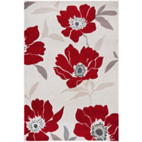 Vogue Blossom Rug - Red / 230cm
