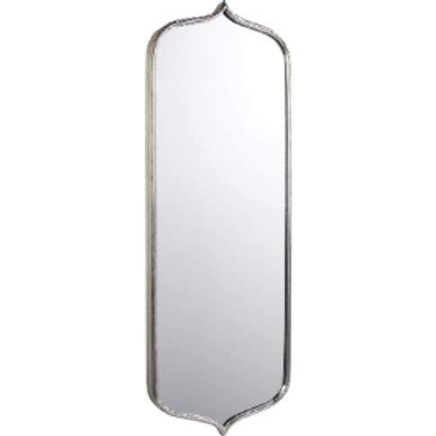 Curved Silver Metal Mirror - Silver