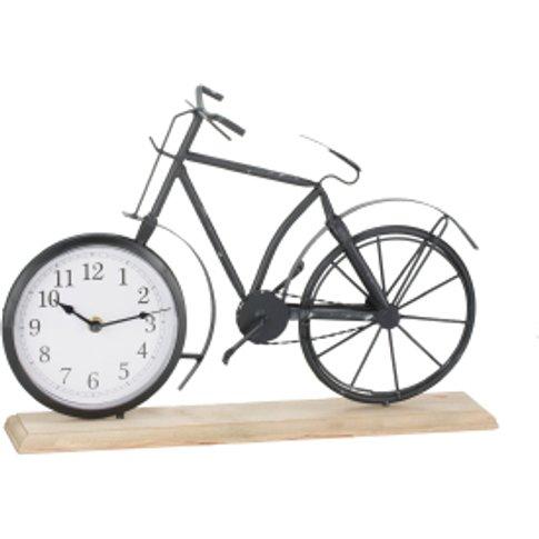 Vintage Bicycle Clock - Black